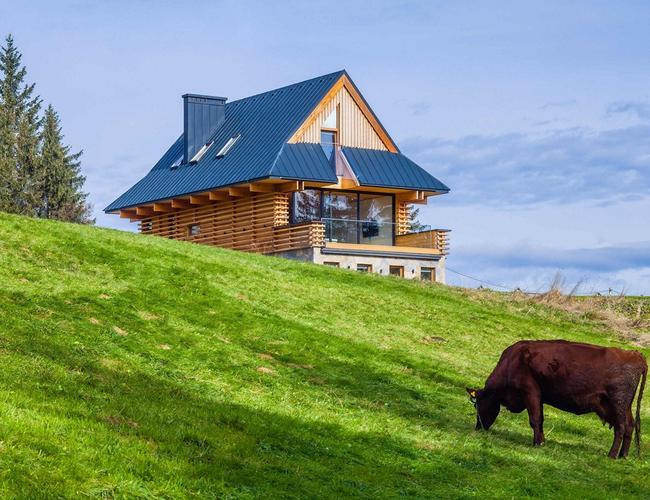 Styl zakopiański na nowo - dom własny architekta na Gubałówce